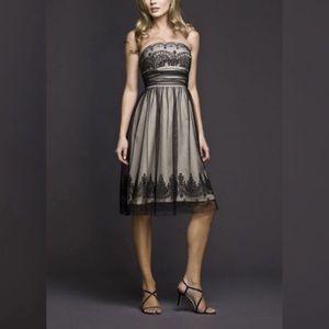 David's Bridal Strapless Tulle Dress.